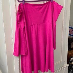 Pink off shoulder Torrid dress